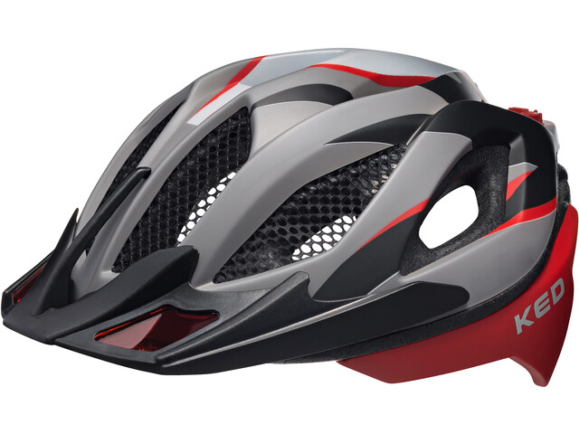 KED Spiri Two Casque, red black matt